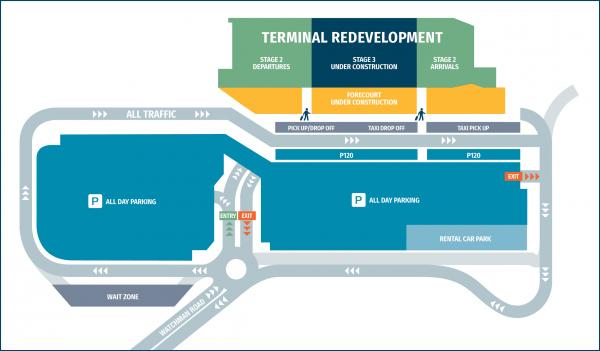 terminal redevelopment forecourt works
